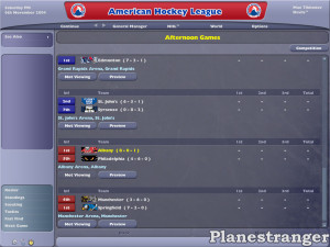 NHL Eastside Hockey Manager 2005 скриншот