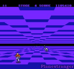 скриншот игры Space Harrier для NES