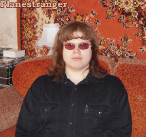 Planestranger with glasses