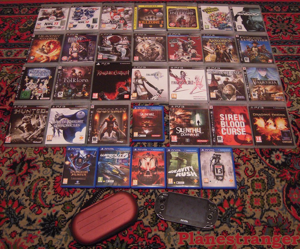 My console games library