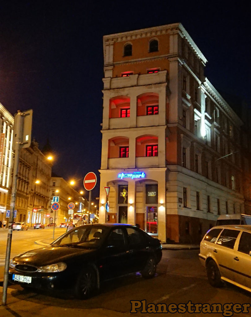 red lights night prague