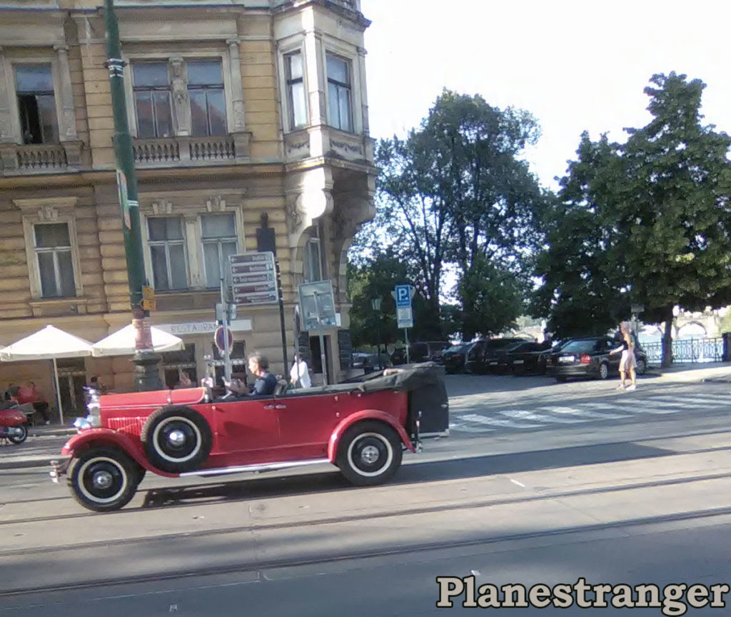 prague retro car