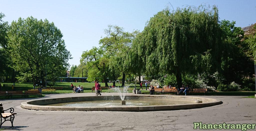 park karlovo naměsti fountain фонтан парк прага