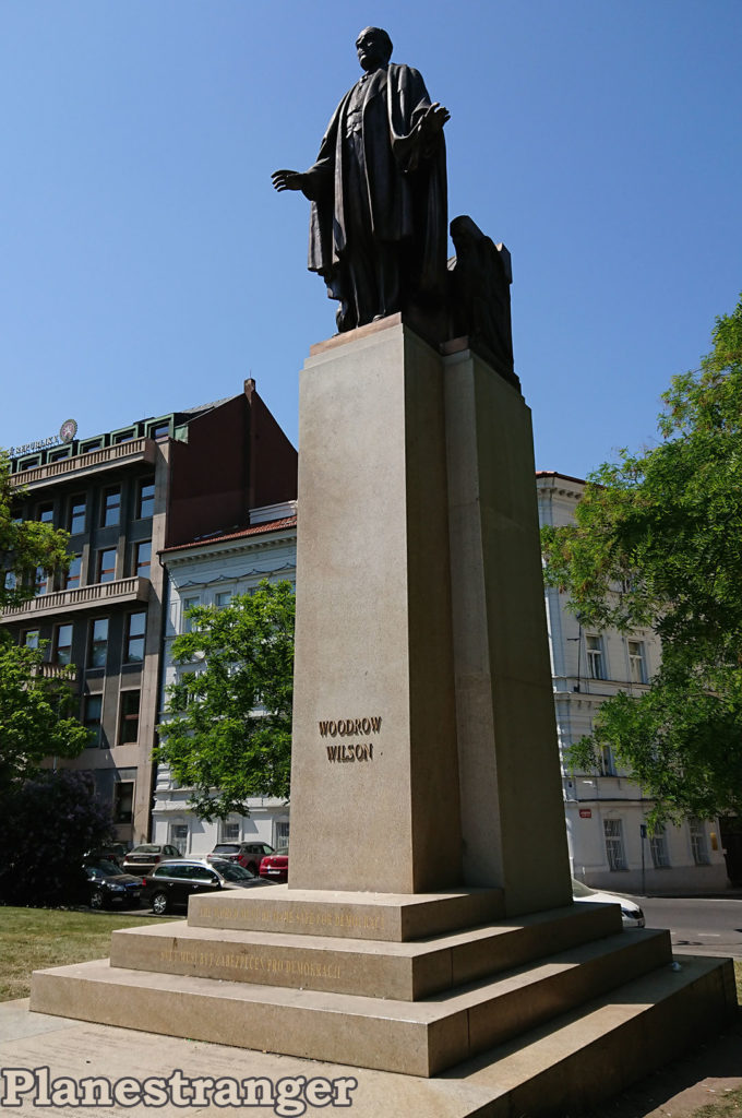 woodrow wilson monument prague