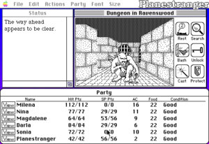 Скриншот игры Might and Magic Booke One: Secret of the Inner Sanctum для Macintosh