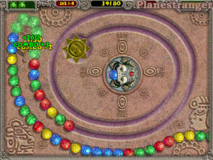 screenshot of Zuma Deluxe PC 2003